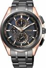 "Citizen Eco-Drive Attesa ""Light in Black"" Titanium Japan Mens Watch AT8044-64E"