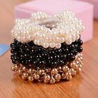 Fashion Rope Scrunchie Ponytail Holder Lady Women Pearl Beads Hair Band Elastic
