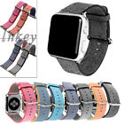 New Sports Woven Nylon Silicone Bracelet Strap Band For Apple Watch 38mm/42mm