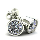 .50Ct Round Brilliant Cut Natural Quality Diamond Stud Earrings 14K Gold