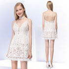 AlisaPan New Arrival Women's White Lace Sleevless Party Dresses 05615