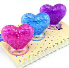 DIY 3D crystal model puzzle toy jigsaw assemble game love heart couple gift 1pc