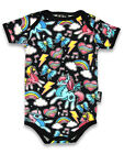 Six Bunnies Short Sleeved Babygrow - Unicorns and Ponies