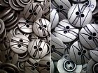 15mm 20mm Aged Silver Metal 2 Hole Industrial Geometric Buttons (MB177-MB178)