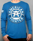 MENS AMERICAN FIGHTER TRAINING DIVISION CREST OF TRUTH THERMAL BLUE SHIRT