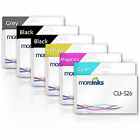 MOREINKS 6 Pack Compatible CLI526/PGI525 Ink Cartridges for Canon Pixma Printer