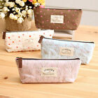 Flower Floral Pen Case Cosmetic Makeup Bag Storage Pouch Purse For Student ZON