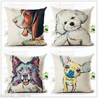 Cotton Linen Throw Pillow Animal Cushion Dog Home Decorative pillow Cover square