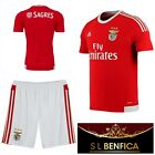 Benfica adidas Junior Football Home Shirt Shorts Kids Boys SLB Team Kit Top NEW