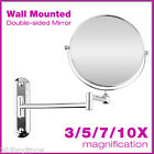 3/5/7/10X Magnifying Mirror Wall Mounted Shaving Bathroom Beauty Make Up Women