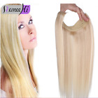 Secret invisible Stretchy Halo Miracle Wire  Flip In Remy Human Hair Extensions