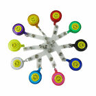 Smile Face ColorMixing Lot 10/20/50/ ID Badge Holder Reel Retractable Key Clip