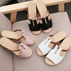 Women Summer Cut Out Sandals Leisure Party Solid Beach Slides Slippers Shoes