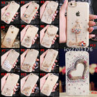 Rhinestone Diamond Bling Jewelled Crystal Soft TPU Gel Back Phone Case Cover #A