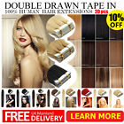 "Double Drawn 16''-24"" Branded Best Remy Human Tape In Hair Extensions 20-40pcs"