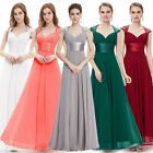 Ever-Pretty Long Maxi Chiffon Bridesmaid Dresses Formal Evening Gown 09672
