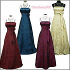 Cherlone Satin Formal Prom Ballgown Bridesmaid Wedding/Evening Full Length Dress