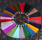 "D-24 Plain colours 4"" (10cm) Length Fashion Craft Long Tassel Fringe Trim (A3)"