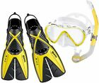 Mares PRO Snorkelling Set with Compact Spilt Fins, Silicone Mask and Snorkel  YW
