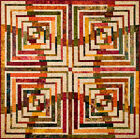 """""""Antelope Canyon"""" Quilt Kit with Hoffman Fabrics Cotton Laurie Shifrin Pattern"""