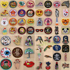 Embroidered Patches Iron On Badge Transfer Fabric Bag Clothes Applique Craft DIY