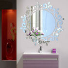 3d Feather Mirror Wall Sticker Home Decoration Room Decal Mural Art Diy