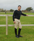 NEW Rhinegold Traditionally Styled Mens Horse Riding Breeches Beige Black