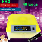 48 Digital Egg Incubator Hatcher Automatic Turning Temperature Poultry Bird Cont