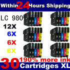 30 Compatible ink cartridges  LC1100 for Brother DCP & MFC Printers