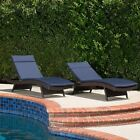 Albany Outdoor Water-Resistant Fabric Chaise Lounge Cushions (Set of 2)
