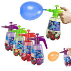 Water Bombs Balloons Air Pump Blaster 2-in-1 Kids Outdoor Garden Party Fun Games
