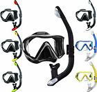 Mares Snorkel Set - Ultra Wide View Mask with Side view Lenses + Dry Top Snorkel
