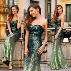 Ever-Pretty Mermaid Prom Dress Strapless Green Ombre Evening Dresses 07001