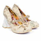 WOMENS IRREGULAR CHOICE I LOVE YOU BRIDE AND GROOM HEELS SHOES