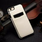 For iPhone X XR XS Max Samsung S8 S9 Note 8 Leather Card Holder Wallet Back Case