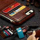 For Iphone X/xr/xs Max 7 8 Plus S10 S9 Plus Leather Card Holder Wallet Back Case