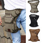 US Men Canvas Tactical Motorcycle Riding Hip Fanny Pack Waist Thigh Drop Leg Bag