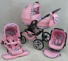 Pram Stroller Pushchair 3in1 ORION + FREE Car seat +UMBRELLA - 37 colours