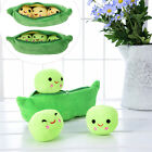 Kids Girls Toy Emoji 3 Peas Pod Plush Soft Lovely Stuffed Doll Pillow 25 - 40cm