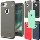 For iPhone 7 Plus Hybrid Rubber Slim Shockproof Silicone Soft TPU Cover Case