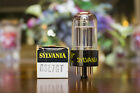 Sylvania 6SL7GT Top Getter NOS Black Base Yellow Print 1960's Vacuum Tube MDGGZ