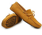 5 Color US Suede Leather Lined Men's New Currents Driving Moccasin Loafer Shoes