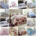 DUVET COVER WITH PILLOW CASE QUILT COVER BEDDING SET FEATURE DESIGN ALL SIZES