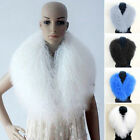 Women's Genuine Mongolian Fur Collar Currents Real Lamb Fur Scarves Wraps Gift