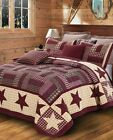 """Homestead Red"" Patchwork Quilt Set  Virah Bella® - Phyllis Dobbs  F/Q or K size"