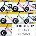 Strider 12 Sport Kids Balance Bike - No Pedals - Learn to Ride - Choose Color