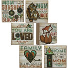 Set Of 2 Box Signs Home Again Mom Quote Wood Country Home Décor Gift Holiday