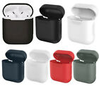 For Apple AirPods Earphones Silicone Soft Shockproof Protective Cover Case Skin