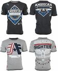 AMERICAN FIGHTER Mens REVERSIBLE T-Shirt CORNERSTONE Athletic Biker Gym UFC $50