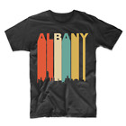 Retro 1970's Style Albany New York Cityscape Downtown Skyline T-Shirt